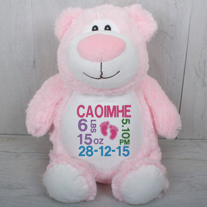 Pink Bear with Personal Message