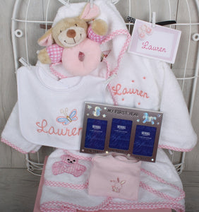 Simba Personalised Baby Gift Set in Pink