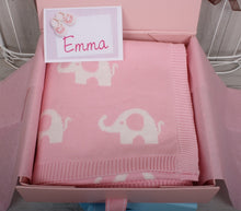 Cotton Elephant Print Baby Blanket Pink ** Out of Stock**