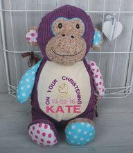 Huggles Personalised Monkey Teddy Bear