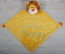 Lion Design Baby Blanket and Comforter with Embroidered Name