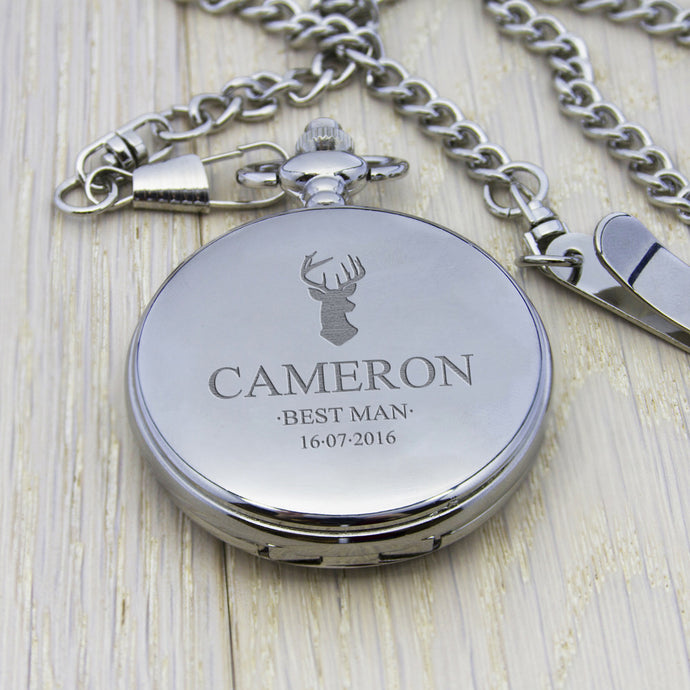 Personalised Pocket Watch Silver **OUT OF STOCK**