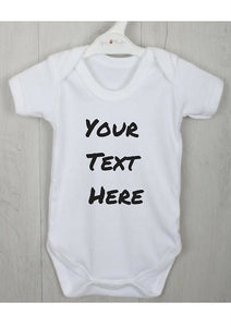 Personalised Baby Vest with Any Text you choose