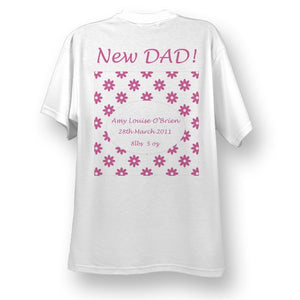 New dad flowers tshirt girl