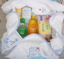 Bath time gift set in blue