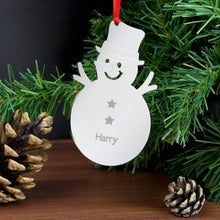 Snowman Personalised Tree Decoration