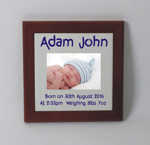 Personalised baby birth tile
