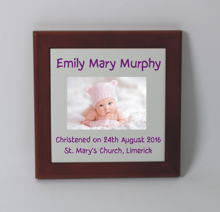 Personalised Christening tile