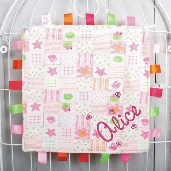 Stars and Apples Baby Tag Comforter