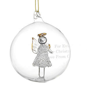 Glass Angel Bauble