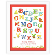 Animal Alphabet White Poster Frame