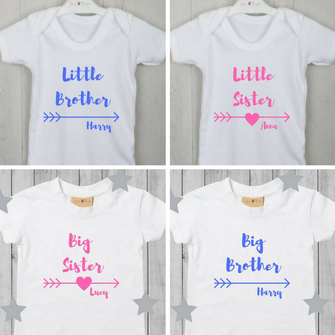 Personalised Vest T-shirt combo for siblings