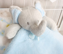 Elephant Comforter and Blanket Blue