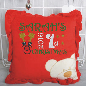 First Christmas cushion