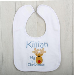 Simba Personalised Baby Gift Set in Blue - bib