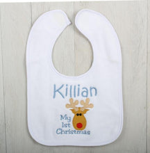 Pocahontas Personalised Baby Gift Set Blue Bib