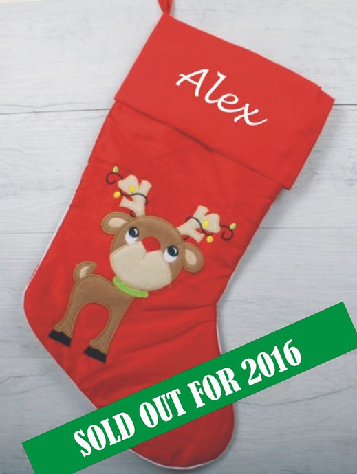 Large cute Rudolph stocking