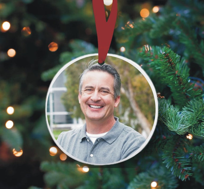 Round photo Christmas ornament  ** OUT OF STOCK **