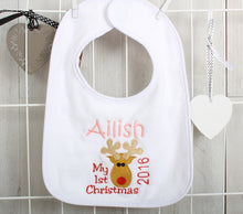 Personalised First Christmas Bib
