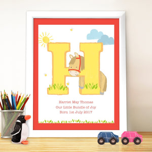 Animal Initial White Poster Frame