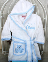 Pocahontas Personalised Baby Gift Set Blue Bathrobe