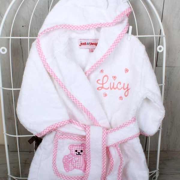 Personalised Bathrobe Pink