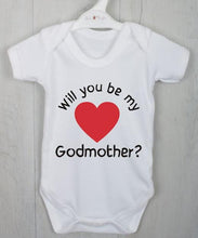 Will you be my Godmother? Personalised baby vest.