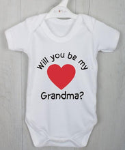 Will you be my Grandma? Personalised baby vest.