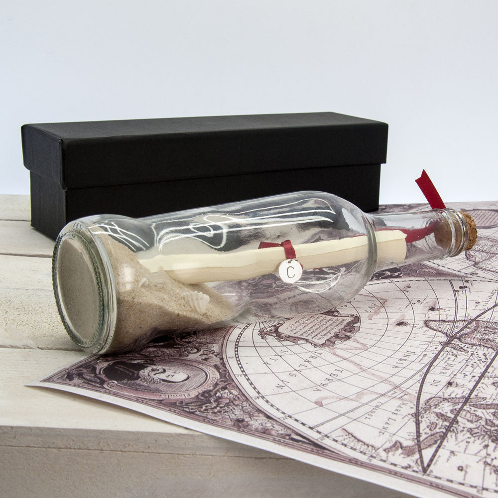 Luxury message in a bottle gift set