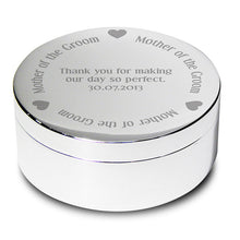 Personalised round trinket box