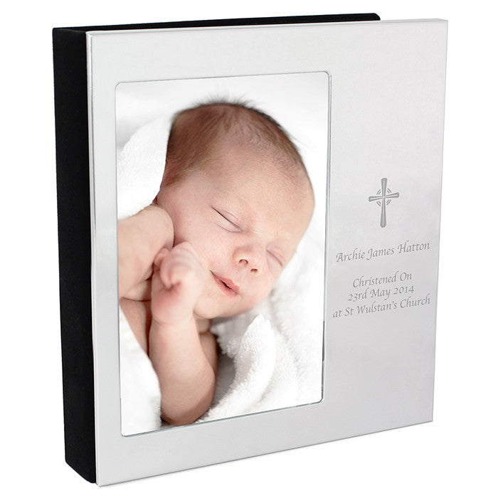 Personalised cross photo alum