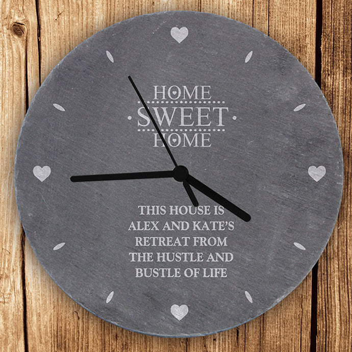 Home Sweet Home slate clock