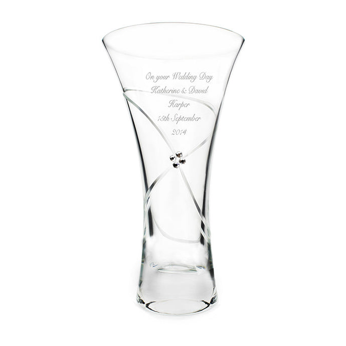 Small infinity vase with Swarovsky elements