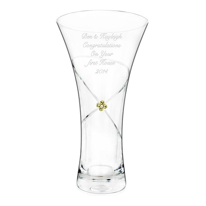 Large infinity vase with Swarovsky elements