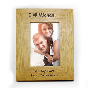 "I ""heart"" .... oak finish frame"