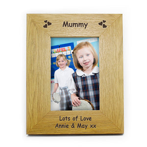 Hearts oak finish frame
