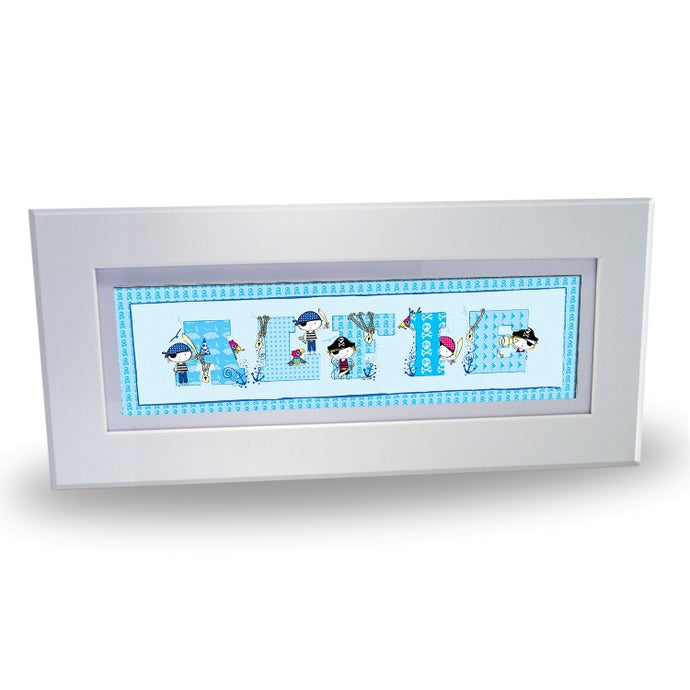 Pirate letter name frame