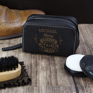 Vintage typography shoe shine kit