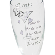 Hen party champagne flutes pack of 10