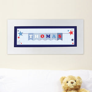 Star bunting name frame