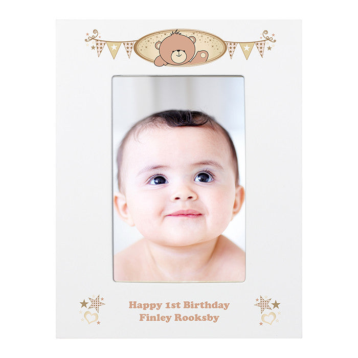 Personalised teddy photo frame