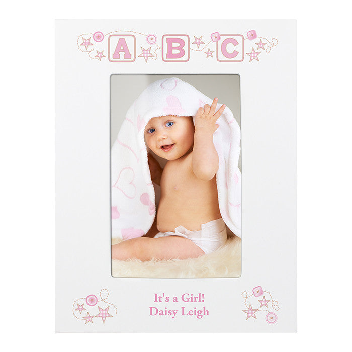 Pink ABC photo frame