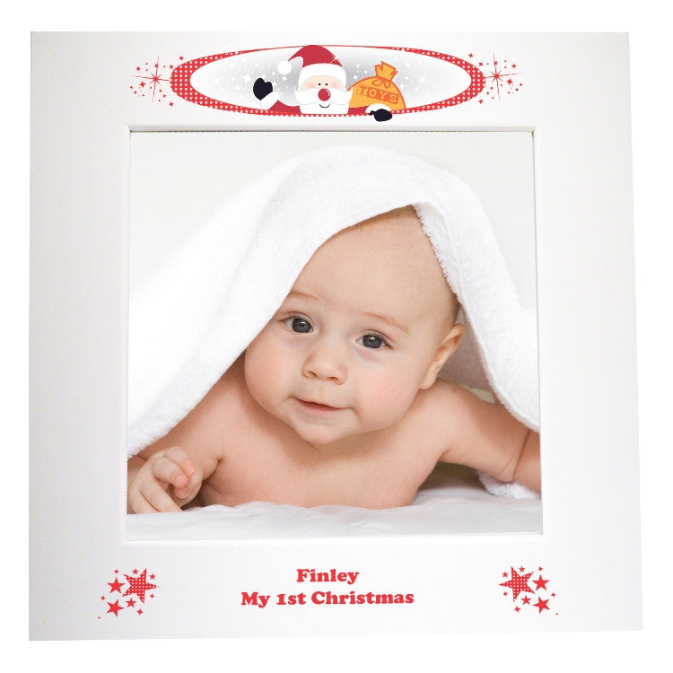 Christmas baby photo frame