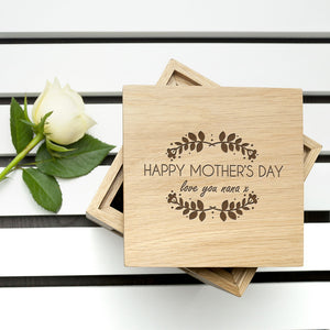 Mother's Day Oak Photo Cube ** Out of Stock**