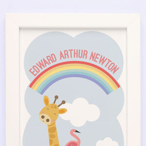 Noah's Ark Personalised Framed Print
