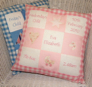 Appliqued Memory Cushion