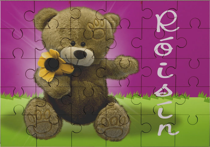 Teddy bear jigsaw with name