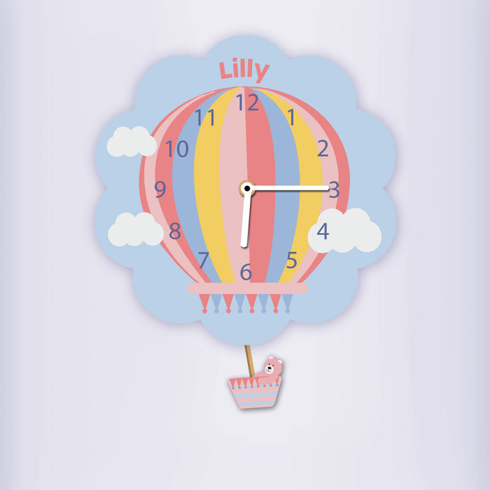 Hot Air Balloon Silent Tick Clock