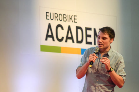 Sean Hacking Eurobike Start Up Pitch