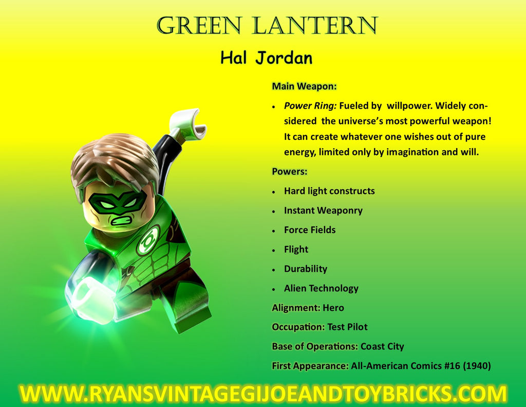 SUPER HERO FACTS: GREEN LANTERN